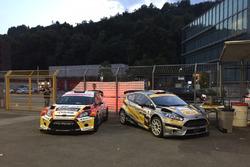 Kevin Gilardoni-Corrado Bonato, Ford Fiesta WRC, Movisport, et Michael Burri-Andersson-Levratti, Ford Fiesta WRC, D-MAX Swiss