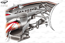 McLaren MP4-23 2008 bargeboard detail