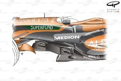 Spyker F8-VII 2007, dettaglio del telaio