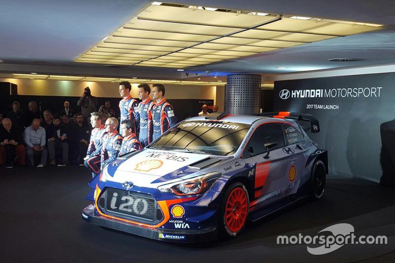 Dani Sordo, Hayden Paddon, John Kennard, Marc Marti, Nicolas Gilsoul, Thierry Neuville, Hyundai Motorsport unveil the 2017 Hyundai i20 Coupe WRC