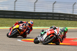 Eugene Laverty, Milwaukee Aprilia World Superbike Team; Nicky Hayden, Honda World Superbike Team