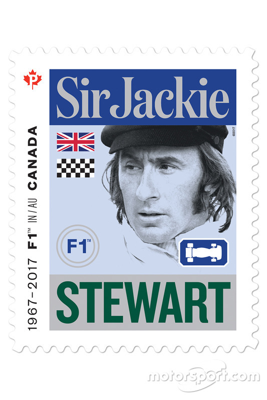 Sello de correos de Sir Jackie Stewart