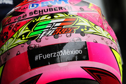 Sergio Perez, Sahara Force India F1 with a message for Mexico earthquake victims
