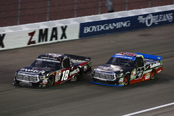 Noah Gragson, Kyle Busch Motorsports Toyota and Ben Rhodes, ThorSport Racing Toyota