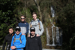 Bruno Spengler, Augusto Farfus, Marco Wittmann, Philipp Eng and Joel Eriksson, Hiking