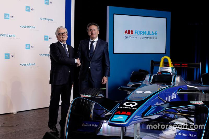 Wolfgang Eder, CEO de voestalpine AG, y Alejandro Agag, fundador y CEO de Fórmula E