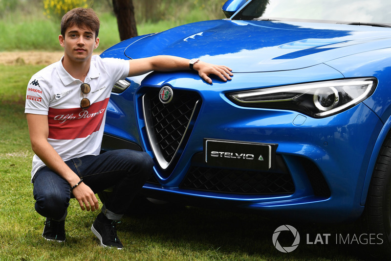 Charles Leclerc, Sauber con una Alfa Romeo Stelvio