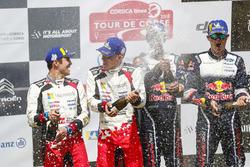 Podium : les vainqueurs Sébastien Ogier, Julien Ingrassia, M-Sport Ford WRT Ford Fiesta WRC, les deuxièmes Ott Tänak, Martin Järveoja, Toyota Gazoo Racing WRT Toyota Yaris WRC