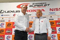 Gerhard Berger, ITR-voorzitter, Masaaki Bandoh, voorzitter GTA