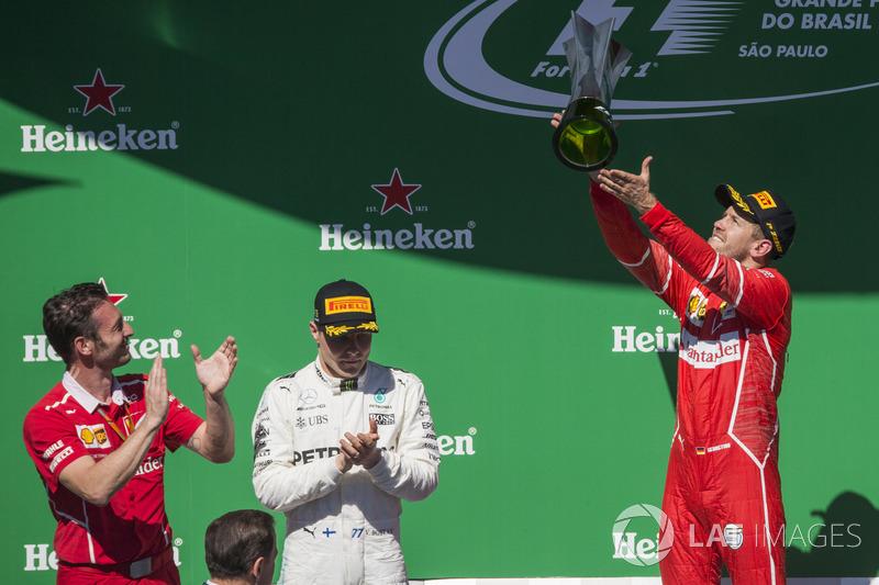3. Sebastian Vettel: 141 punten - twee plaatsen gestegen