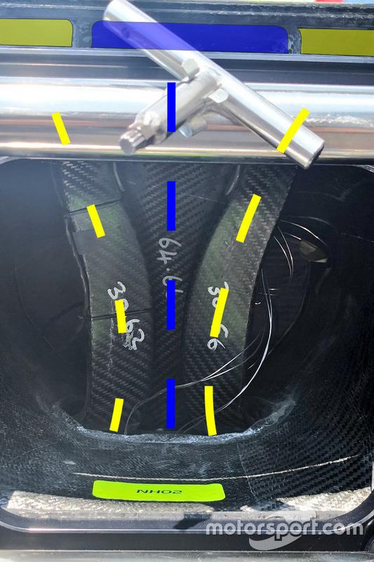 Intérieur du museau de la Renault R.S.18
