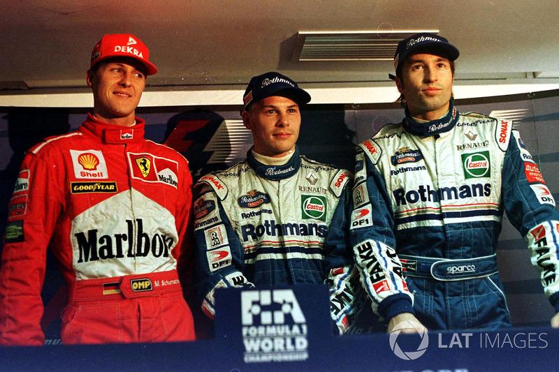 Вильнев, Шумахер и Френцен после квалификации
