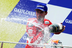 Podium: race winner Max Biaggi