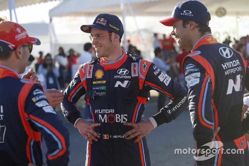 Thierry Neuville, Hyundai Motorsport, Andreas Mikkelsen, Hyundai Motorsport