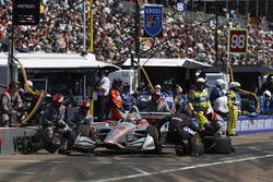Will Power, Team Penske Chevrolet, pitstop