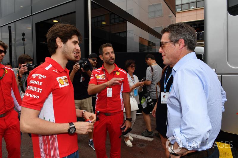 Antonio Giovinazzi, Ferrari and Hugh Grant