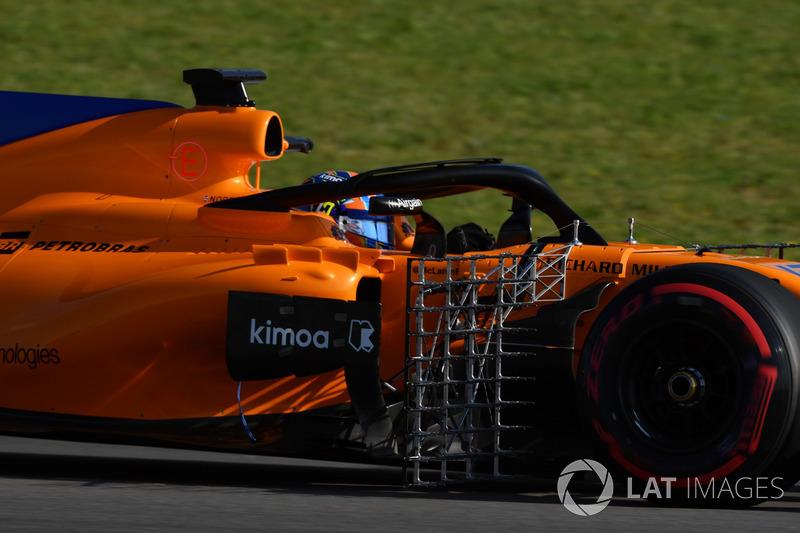 Lando Norris, McLaren MCL33 with aero sensors