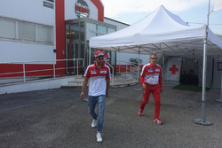 Andrea Iannone, Ducati Team out of the Medical Center