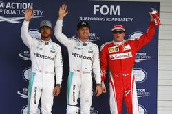 Qualifying: 2. Lewis Hamilton, Mercedes AMG F1; 1. Nico Rosberg, Mercedes AMG F1; 3. Kimi Räikkönen, Ferrari