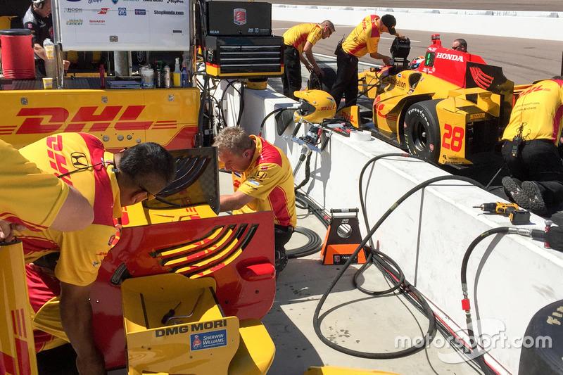 Ryan Hunter-Reay, Andretti Autosport, Honda, Flügelanpassung