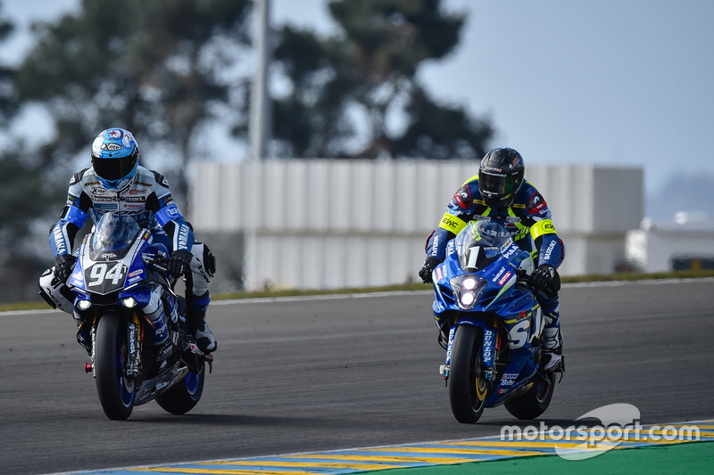 #94 GMT94 Yamaha: David Checa #1 Suzuki Endurance Racing Team, SERT: Anthony Delhalle