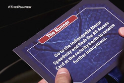 The Runner reality television show visits Indianapolis Motor Speedway