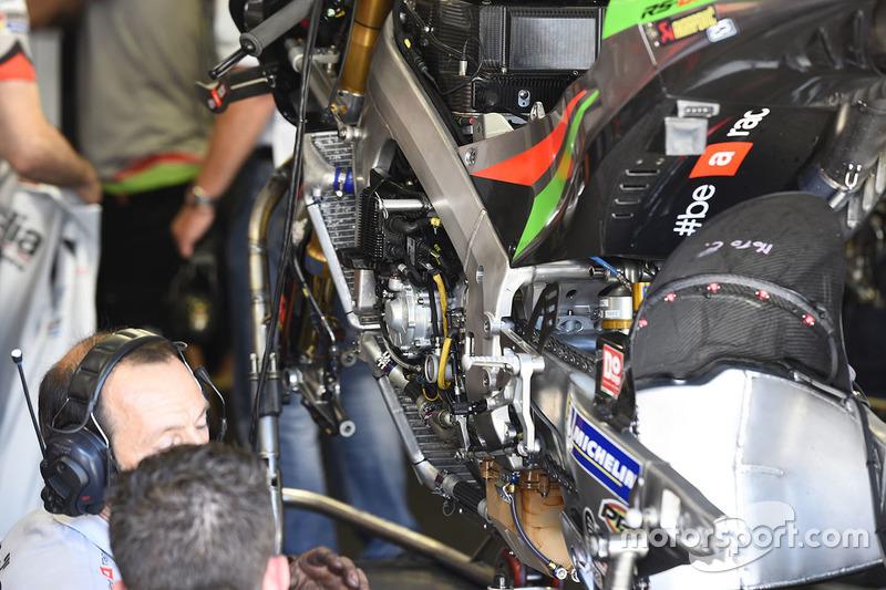 Aprilia Racing Team Gresini, dettaglio della moto