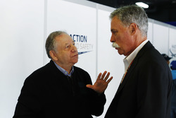Jean Todt, President, FIA, and Chase Carey, Chairman, Formula One