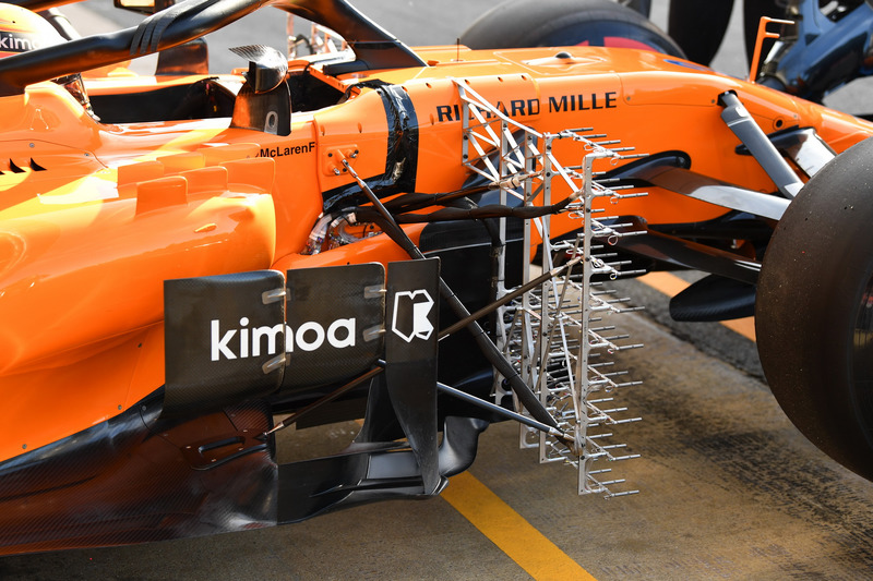 Stoffel Vandoorne, McLaren MCL33 with aero sensors