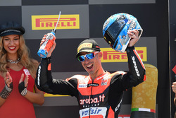 Podio: tercer lugar Marco Melandri, Aruba.it Racing-Ducati SBK Team