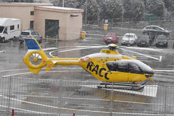 Medical Helicopter as snow stops testing