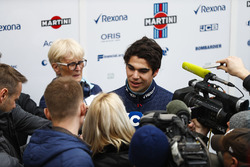 Lance Stroll, Williams. Ann Bradshaw stands behind