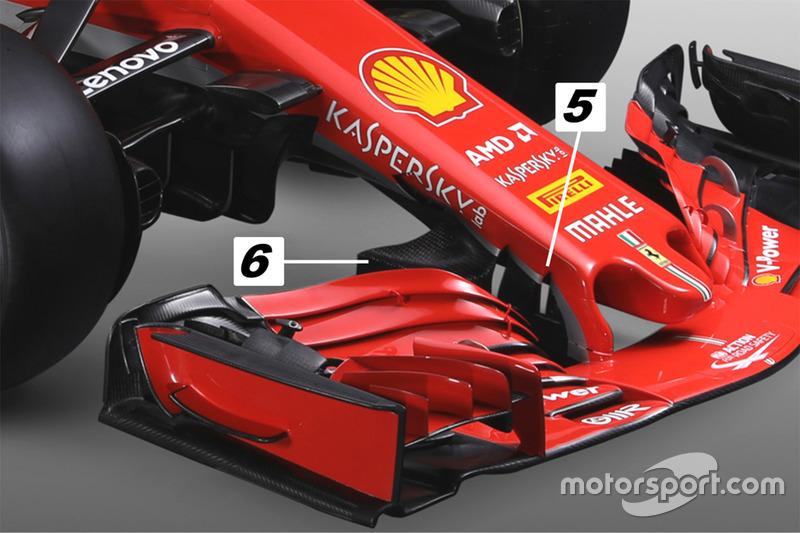 Ferrari SF71H, ніс