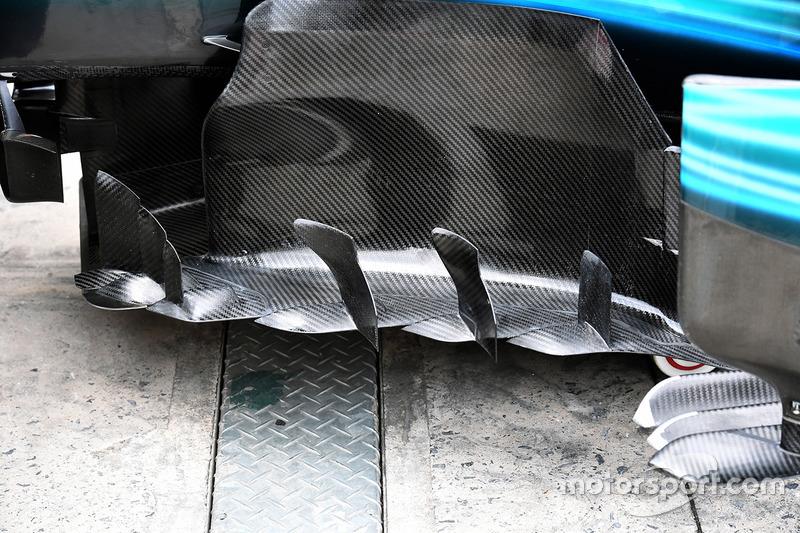 Detalle aerodinámico del W08 de Mercedes-Benz F1