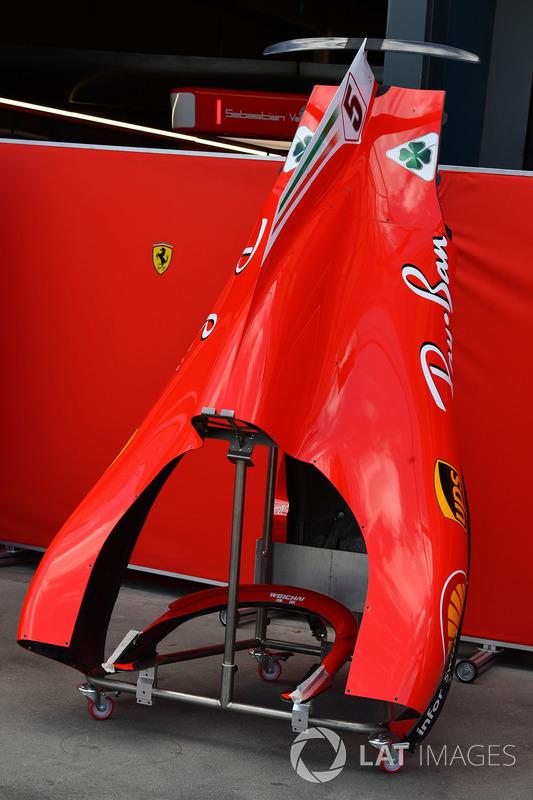 Ferrari SF71H, dettaglio della carrozzeria
