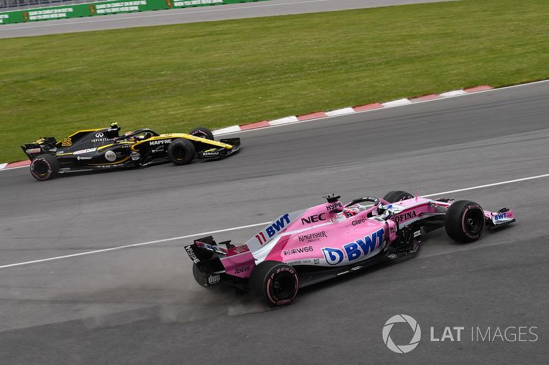 Sergio Perez, Force India VJM11, di traverso