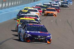 Denny Hamlin, Joe Gibbs Racing, Toyota Camry FedEx Freight, Clint Bowyer, Stewart-Haas Racing, Ford Fusion Haas Automation