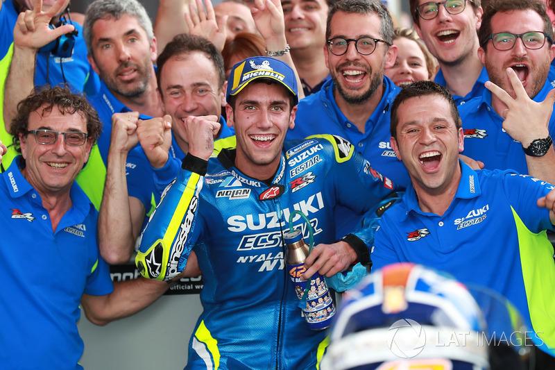 Tercer lugar Alex Rins, Team Suzuki MotoGP