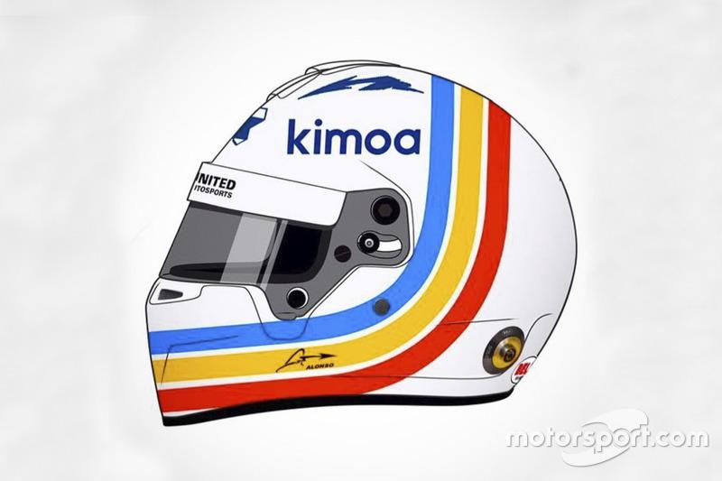 Casque spécial de Fernando Alonso pour les 24 Heures de Daytona