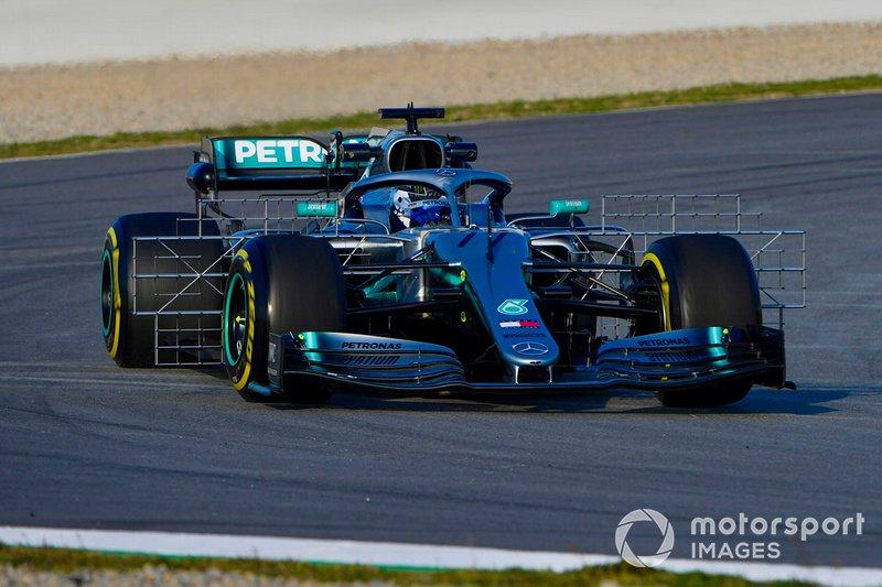 Mercedes AMG F1 W10, con sensores
