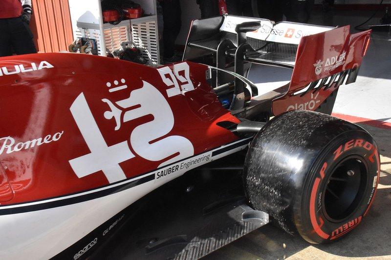 Alfa Romeo Racing C38 rear detail