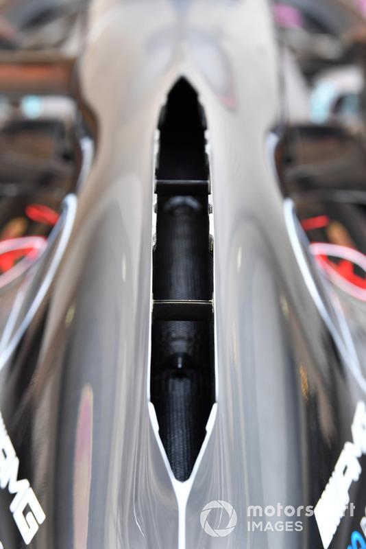 Capot moteur de la Mercedes-AMG F1 W09