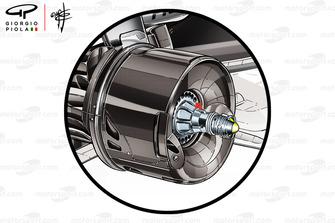 Mercedes AMG F1 W09 rear brake duct