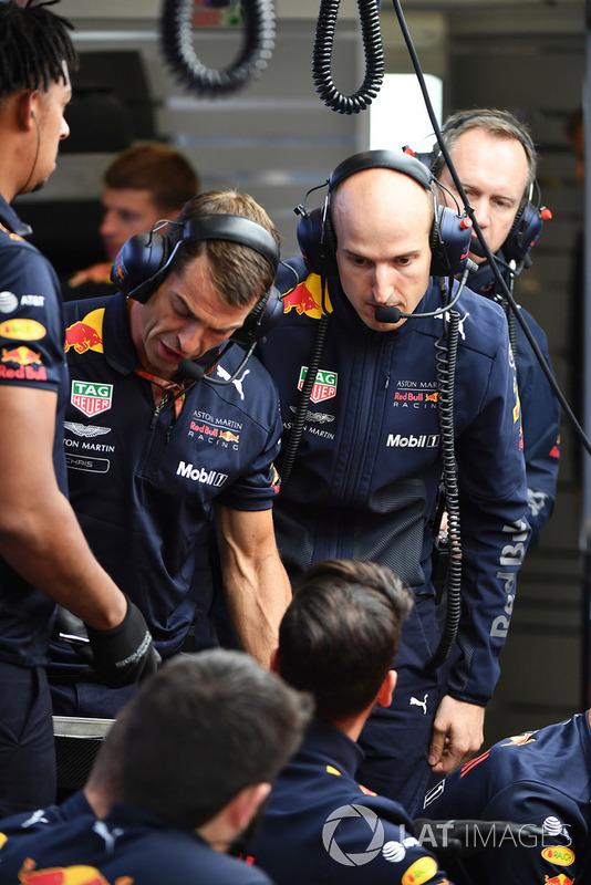 Red Bull Racing mechanics