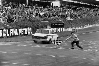 Race winner Jim Clark, Lotus Cortina