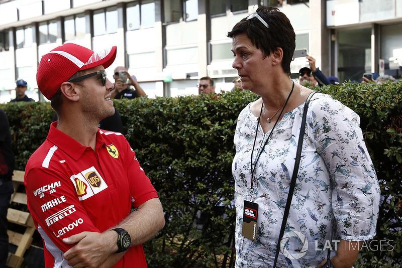 Sebastian Vettel, Ferrari con sua madre Heike Vettel