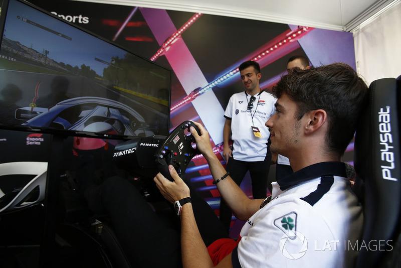 Charles Leclerc, Sauber al simulatore