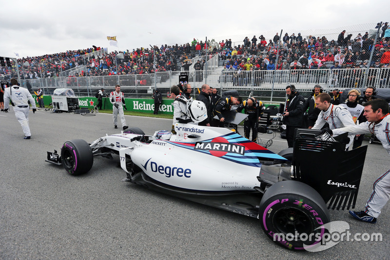Валттері Боттас, Williams FW38 на стартовій решітці