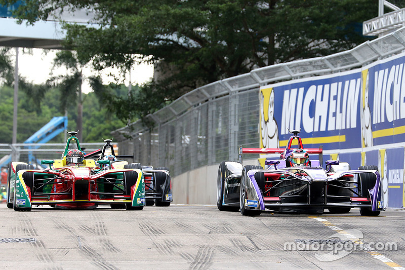 Jose Maria Lopez, DS Virgin Racing; Daniel Abt, ABT Schaeffler Audi Sport