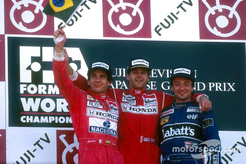 1991: 1. Gerhard Berger, 2. Ayrton Senna, 3. Riccardo Patrese